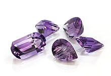 natural or treated amethysts