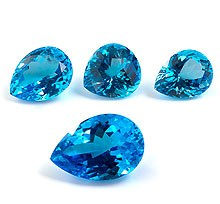 natural or treated blue topaz