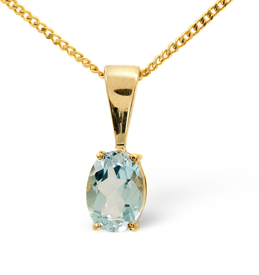 Blue topaz 7 x 5mm 9k yellow gold pendant item b3290 blue topaz 7 x 5mm 9k yellow gold pendant aloadofball Image collections