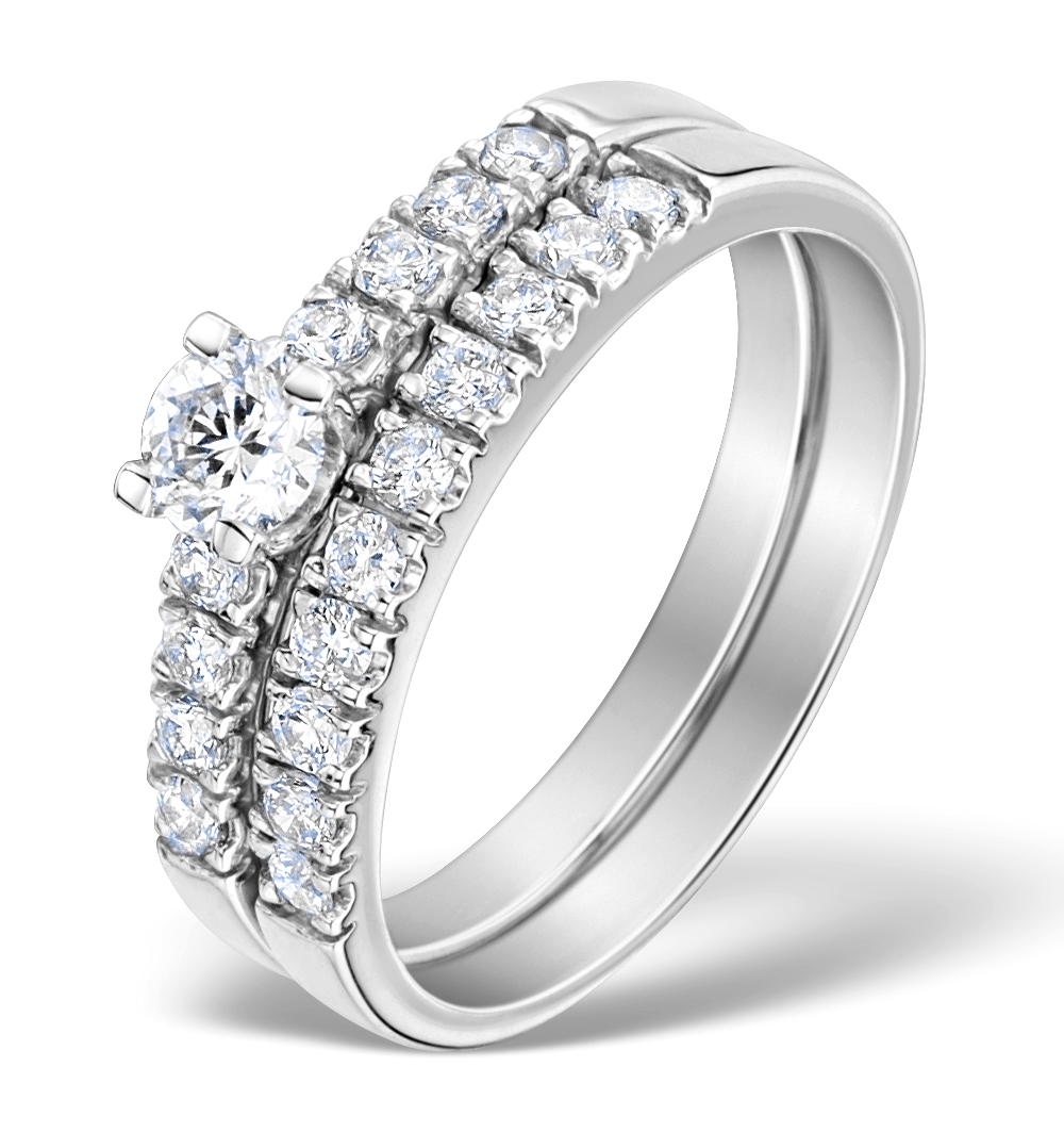 Matching Diamond Engagement And Wedding Ring 0.66ct
