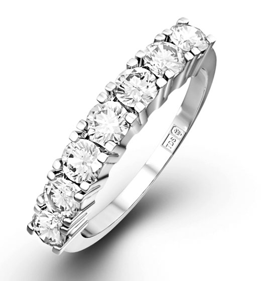 wedding four diamond anniversary si cut pin round platinum ring band stone in bands h i