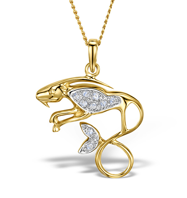 prices zodiac diamond and anextweb designs design pendant gold capricorn