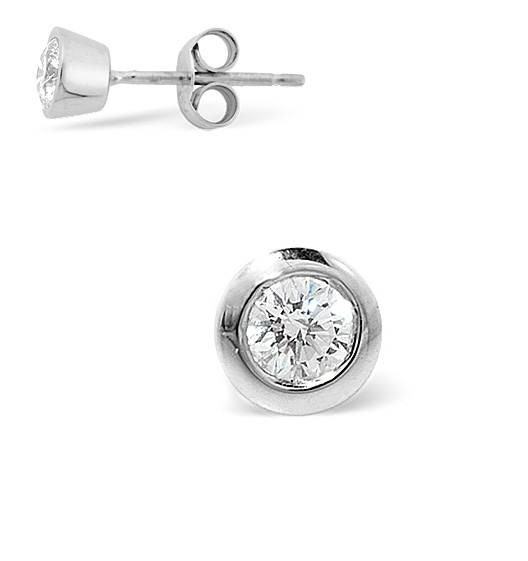 Single Stud Diamond Earring 0 25ct H Si Quality 18k White Gold 5 8mm Item Fg25 47juyu