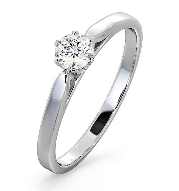 Certified Low Set Chloe Platinum Diamond Engagement Ring 0