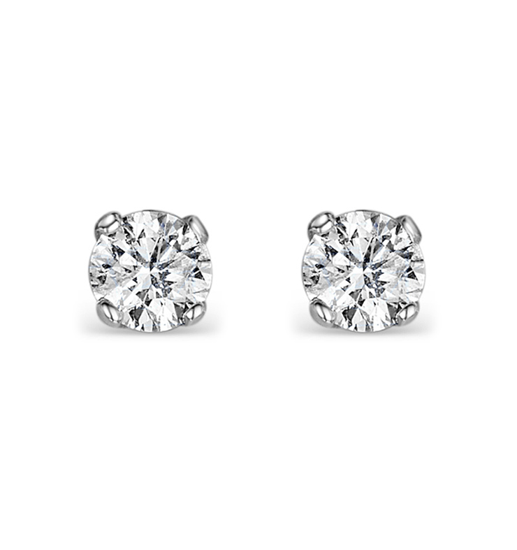 Diamond Earrings 0 20ct Studs Premium Quality In 18k White Gold 3mm