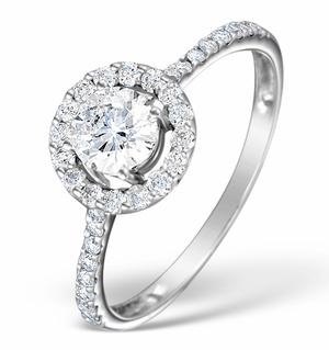 Ring with Diamond Shoulders